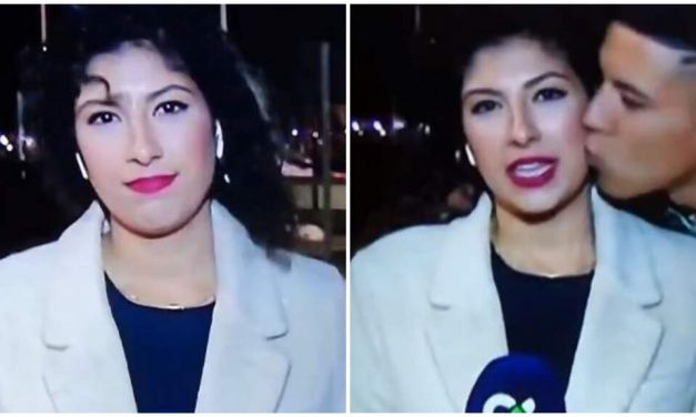 Condenado por abuso sexual al besar a una periodista en directo