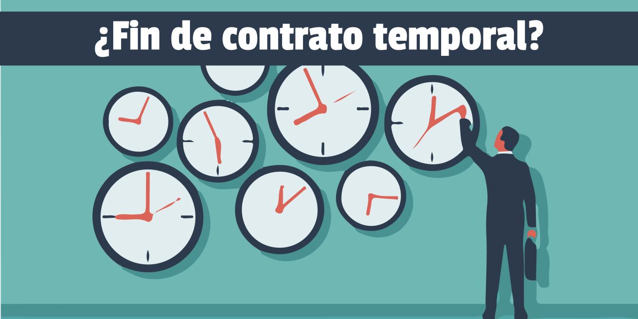 Si tengo un contrato temporal a punto de finalizar y me aplicaron un ERTE, ¿qué sucede con mi contrato?