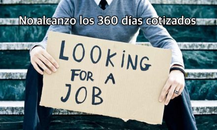 No alcanzo los 360 días necesarios para acceder a la prestación por desempleo