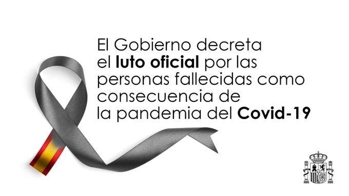 Luto oficial por los fallecidos como consecuencia del COVID-19