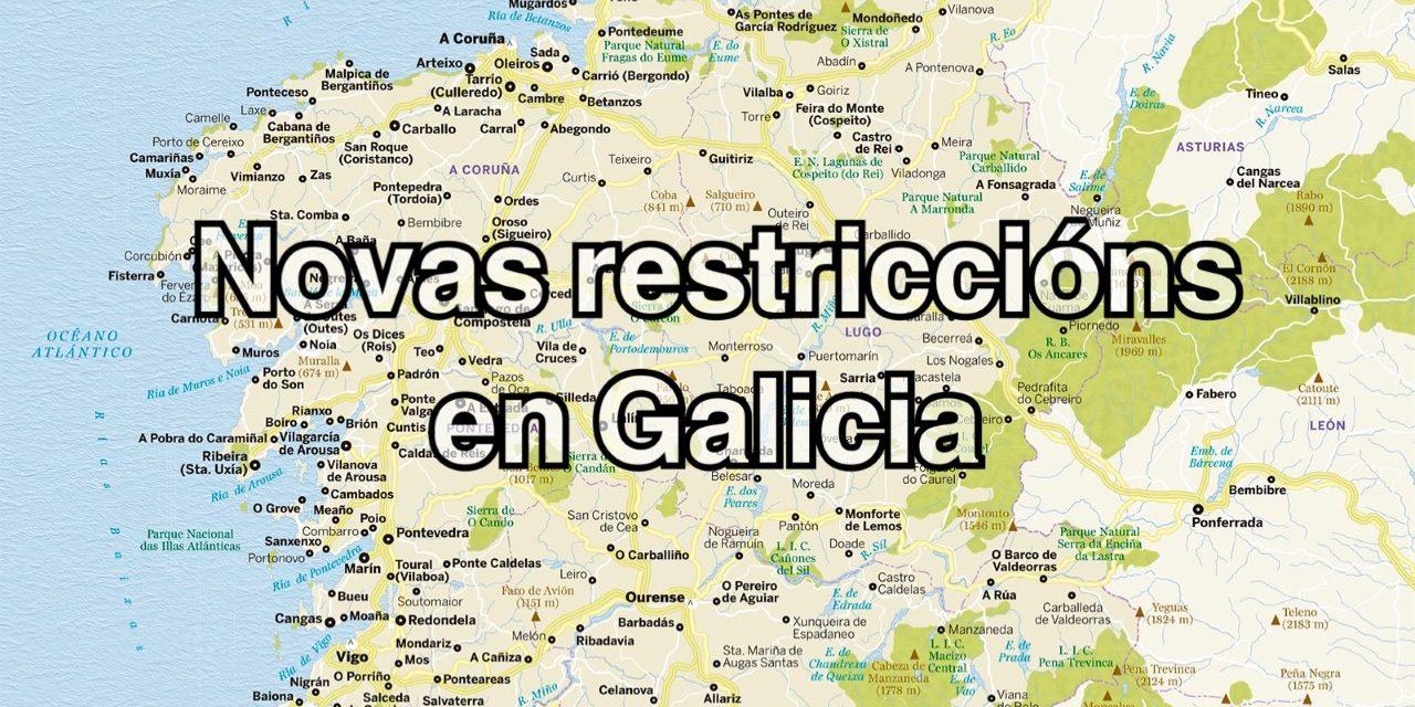 Novas restriccións en Galicia publicadas no DOG o 26 de xaneiro de 2021